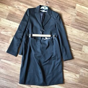 J Crew suit, very dark brown, unworn.